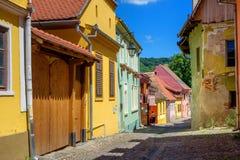 Ciudad vieja de Sighisoara, Transilvania imagenes de archivo