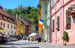Ciudad vieja de Sighisoara, Transilvania fotos de archivo libres de regalías