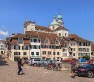 Ciudad vieja de Solothurn, Suiza Foto de archivo libre de regalías