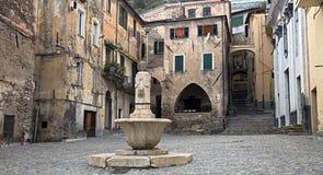 Ciudad vieja de Taggia Imagenes de archivo