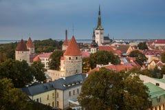 Ciudad vieja de Tallin Imagen de archivo libre de regalías