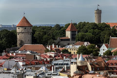Ciudad vieja de Tallinn imagen de archivo