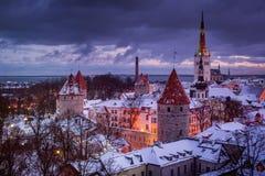 Ciudad vieja de Tallinn Fotografía de archivo
