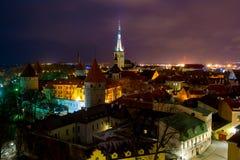 Ciudad vieja de Tallinn del puesto de observación de Patkul Foto de archivo