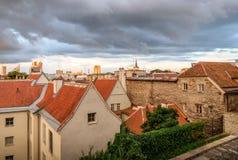 Ciudad vieja de Tallinn Estonia imágenes de archivo libres de regalías