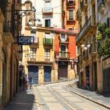 Ciudad vieja de Tarragona, España Imagen de archivo libre de regalías