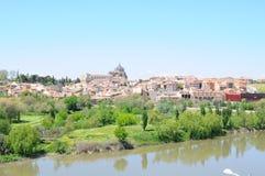 Ciudad vieja de Toledo y del río Fotografía de archivo libre de regalías
