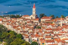 Ciudad vieja de Trogir foto de archivo
