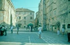 Ciudad vieja de Trogir, Croacia Fotos de archivo libres de regalías