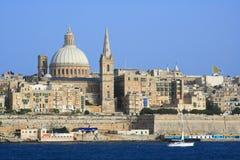 Ciudad vieja de Valletta, Malta Foto de archivo libre de regalías