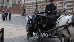 Ciudad vieja de Varsovia almacen de video