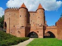 Ciudad vieja de Varsovia - barbacana del renacimiento Imagen de archivo libre de regalías