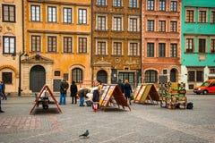 Ciudad vieja de Varsovia, Polonia Imagen de archivo libre de regalías