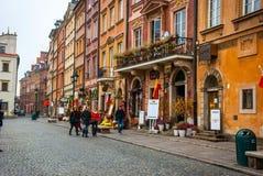 Ciudad vieja de Varsovia, Polonia Imágenes de archivo libres de regalías