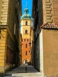 Ciudad vieja de Varsovia, Polonia Edificios coloridos viejos en la parte central de la ciudad de Varsovia Fotos de archivo