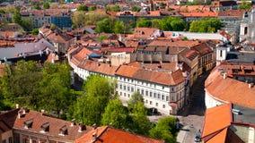 Ciudad vieja de Vilna Imágenes de archivo libres de regalías