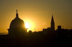 Ciudad vieja del acre por puesta del sol Fotos de archivo libres de regalías