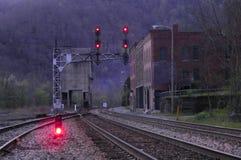 Ciudad vieja del ferrocarril fotos de archivo