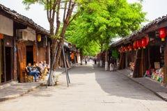 Ciudad vieja del paisaje de Langzhong Imágenes de archivo libres de regalías