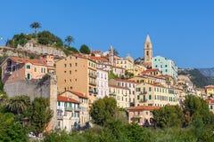 Ciudad vieja del ventimiglia, Italia Imagen de archivo libre de regalías