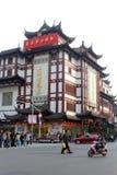 Ciudad vieja dinámica de Nanshi en Shangai, China Imagen de archivo libre de regalías