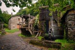 Ciudad vieja en Asturias, Taramundi Foto de archivo