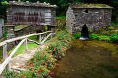 Ciudad vieja en Asturias, Taramundi Imagenes de archivo