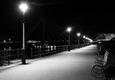 Ciudad vieja en blanco y negro Foto de archivo libre de regalías