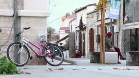 Ciudad vieja en Chipre Limassol almacen de metraje de vídeo