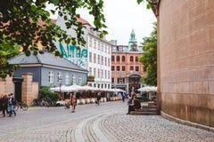 Ciudad vieja en Copenhague Imagen de archivo
