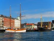 Ciudad vieja en Copenhague, Dinamarca Foto de archivo libre de regalías