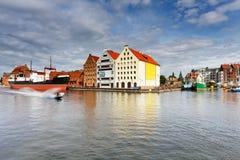 Ciudad vieja en Gdansk Foto de archivo libre de regalías
