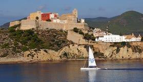 Ciudad vieja en Ibiza Foto de archivo