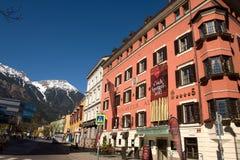 Ciudad vieja en Innsbruck Austria Fotos de archivo libres de regalías
