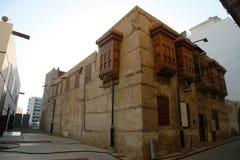 Ciudad vieja en Jedda, la Arabia Saudita conocida como ` histórico de Jedda del ` Edificios y caminos viejos y de la herencia en  foto de archivo