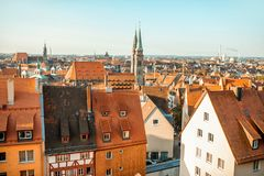 Ciudad vieja en la ciudad de Nurnberg, Alemania foto de archivo