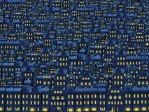 Ciudad vieja en la noche Fotos de archivo libres de regalías
