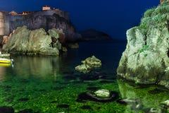 Ciudad vieja en la noche dubrovnik Croacia Imagenes de archivo