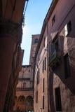 Ciudad vieja en la región de las montañas de Abruzos Imagen de archivo libre de regalías