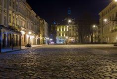 Ciudad vieja en Lviv, Ucrania Foto de archivo
