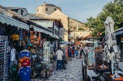 Ciudad vieja en Mostar Foto de archivo libre de regalías