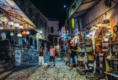 Ciudad vieja en Mostar Imágenes de archivo libres de regalías