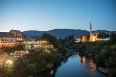 Ciudad vieja en Mostar, Bosnia y Herzegovina fotografía de archivo