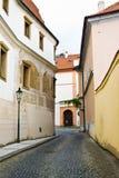 Ciudad vieja en Praga Fotos de archivo