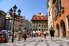 Ciudad vieja en Praga Fotos de archivo libres de regalías