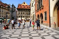 Ciudad vieja en Praga Foto de archivo libre de regalías