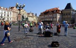Ciudad vieja en Praga Fotografía de archivo libre de regalías