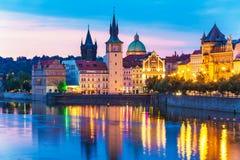 Ciudad vieja en Praga, República Checa foto de archivo