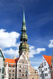 Ciudad vieja en Riga, Latvia Imagen de archivo libre de regalías