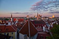 Ciudad vieja en Tallinn Fotografía de archivo libre de regalías